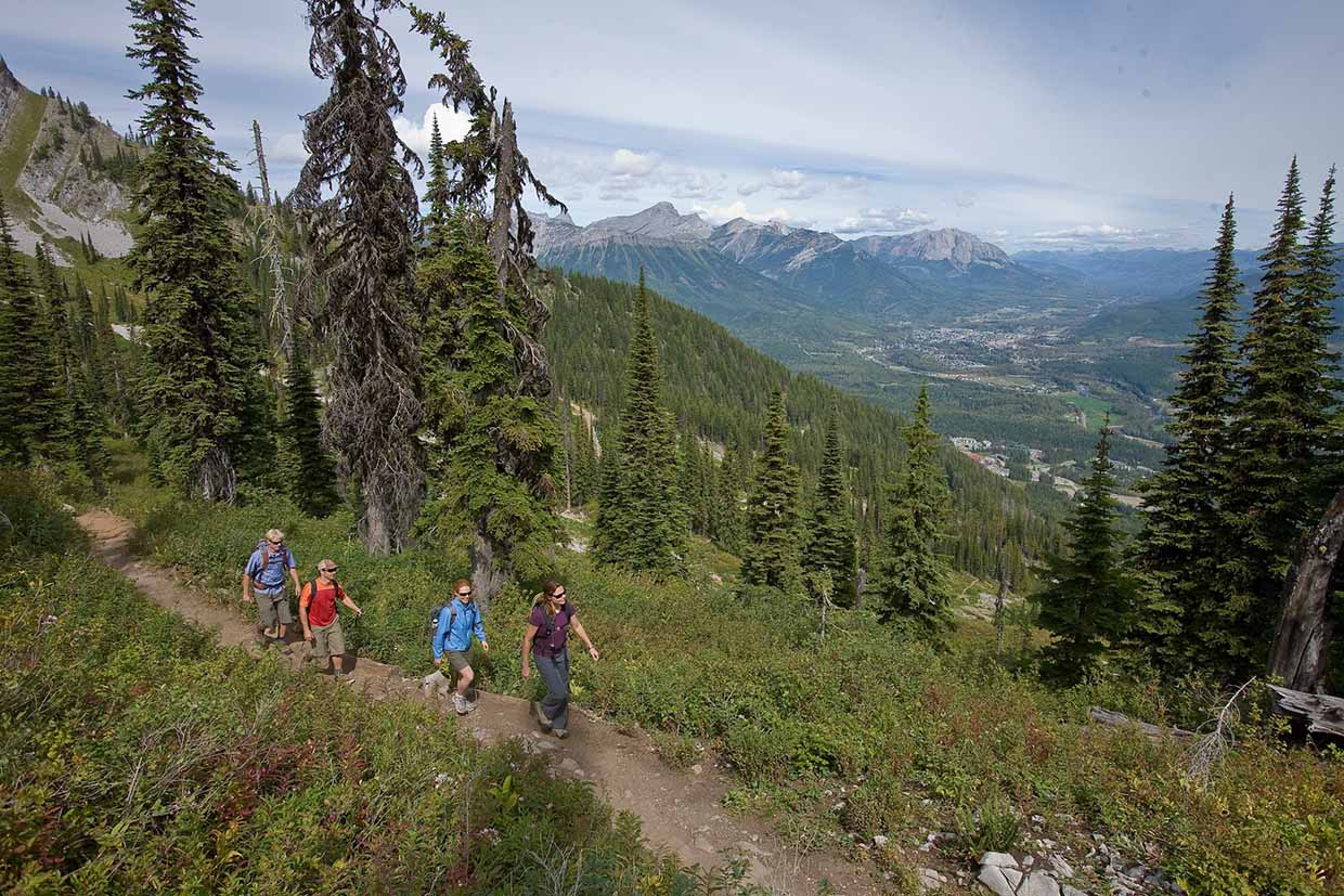 Lift access hiking at Fernie Alpine Resort in the summer