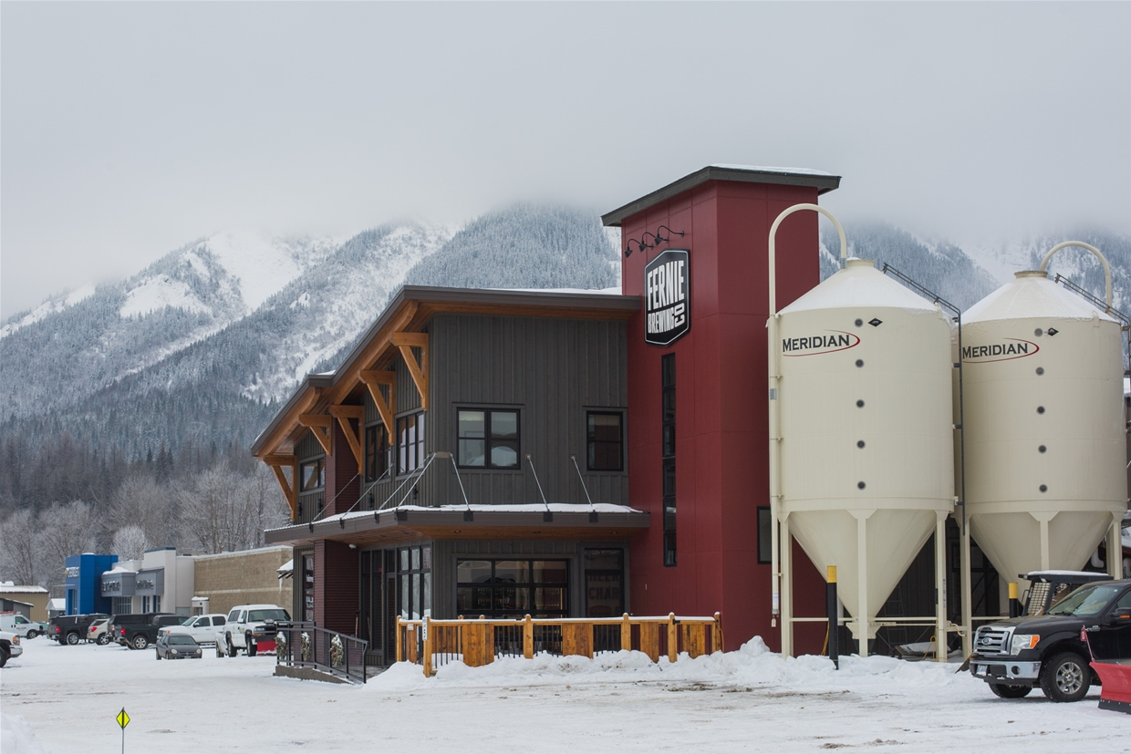 Fernie Brewing Company in Winter