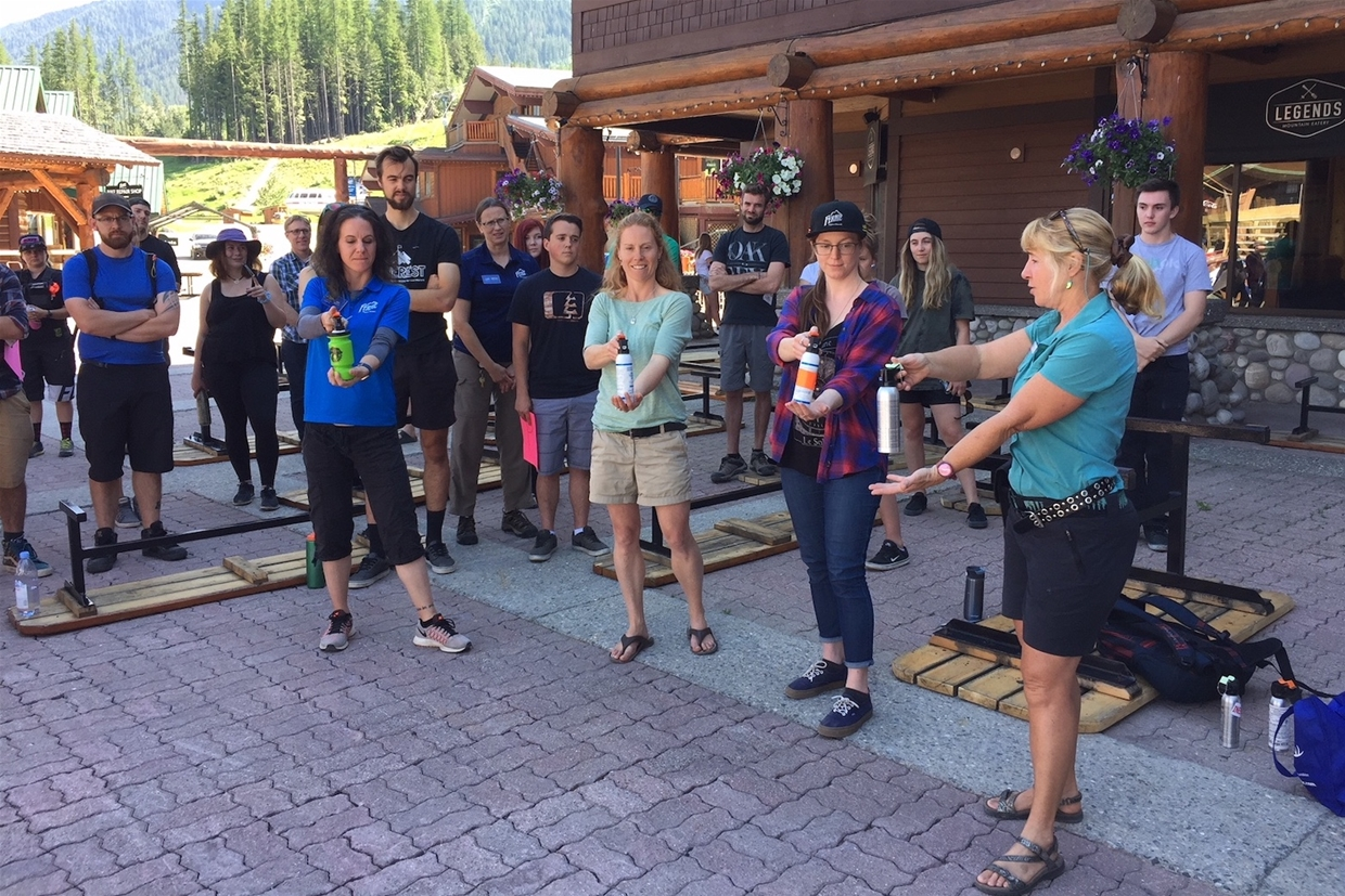 Bear Spray Demonstration with Kathy Murray