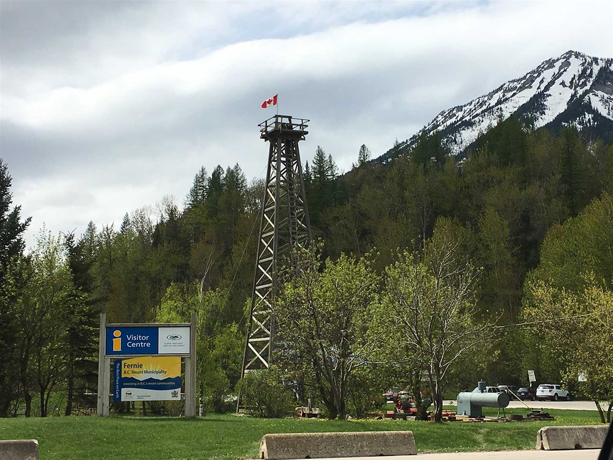 Fernie Historic Oil Derrick