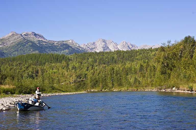 The Elk River, offering incredible fly fishing opportunities