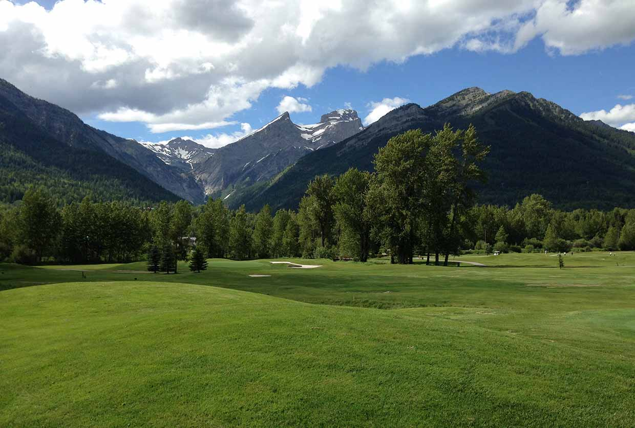 Fernie Golf Club with Three Sisters Mtn in background