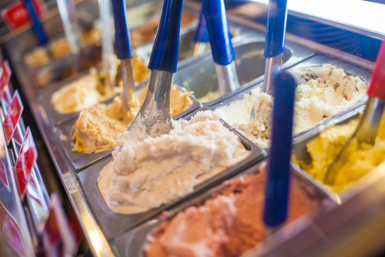 Homemade Gelato made every summer season