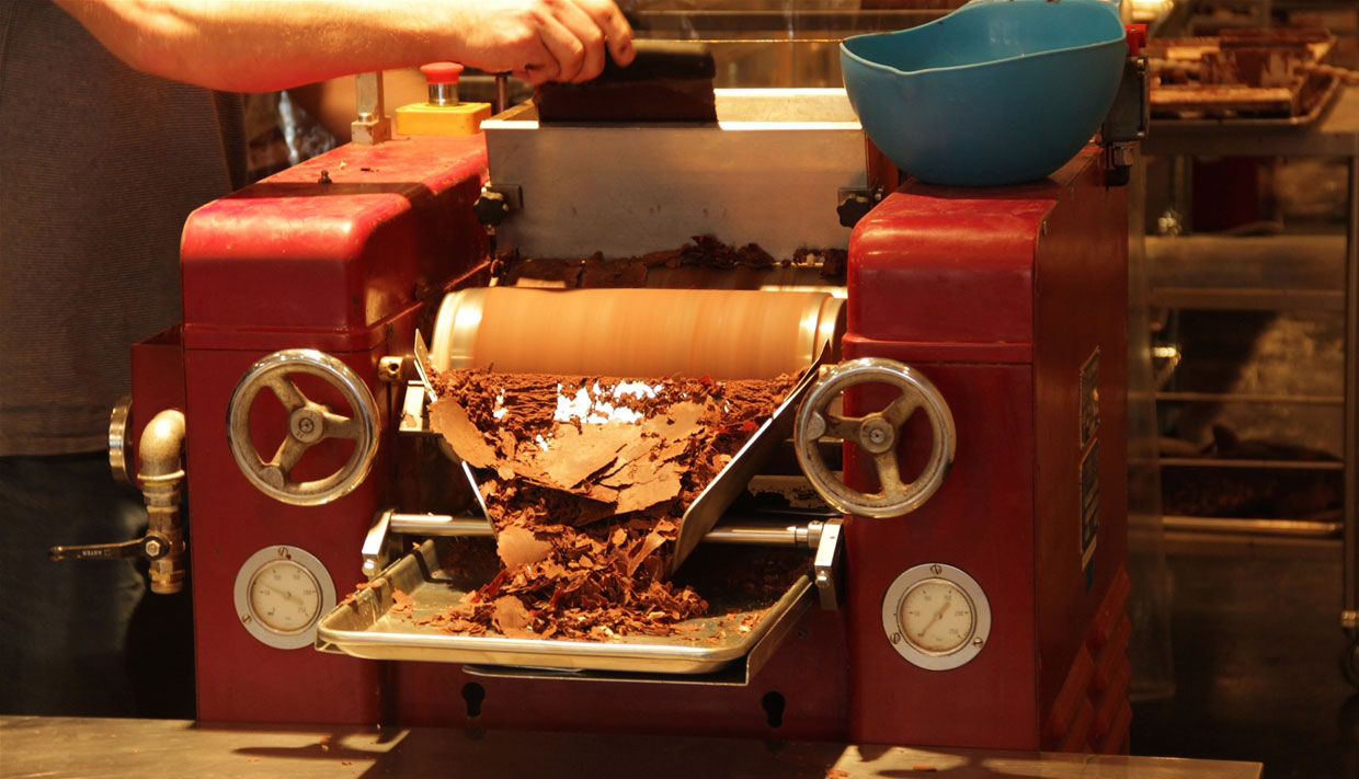 Beanpod making chocolate on 100 year-old machines