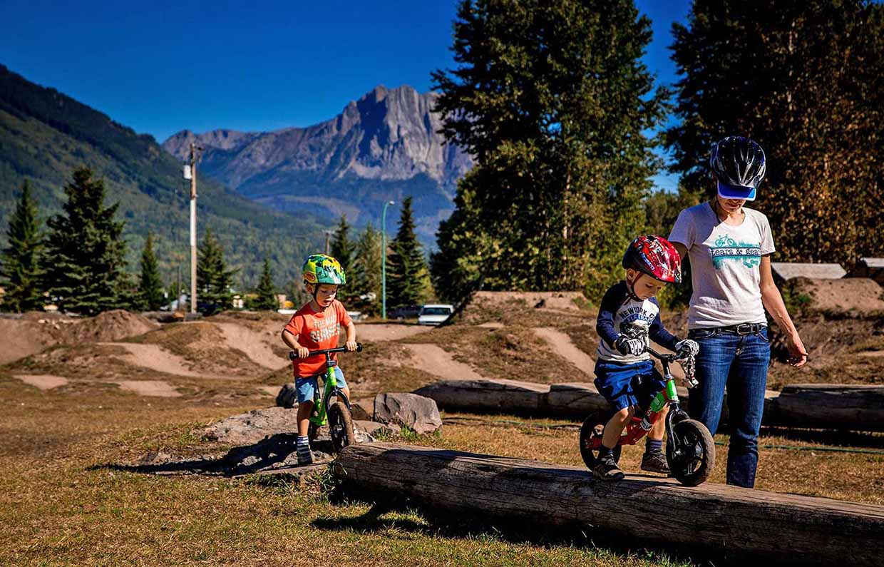 The dirt jump park is a great place for all ages.