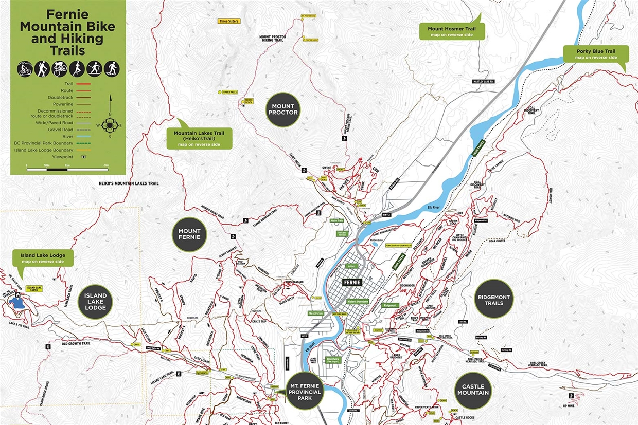 Fernie Multi-Use Trail Map