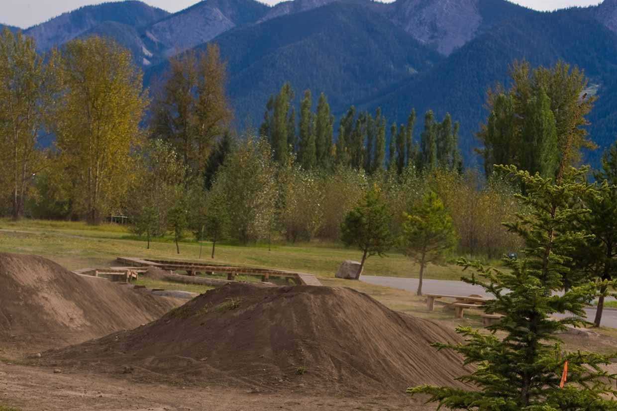 Jumps at the Dirt Jump Park