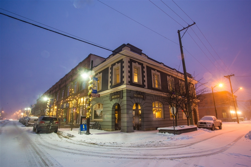 Winter evening at the Fernie Museum