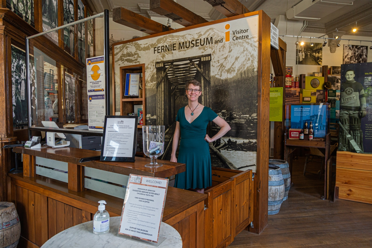 Visitor information services available at the Fernie Museum