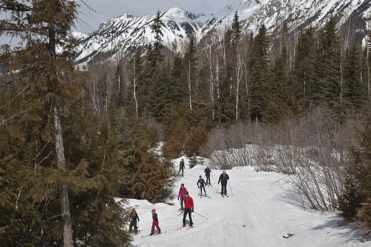 Popular trails at Fernie Nordic Centre