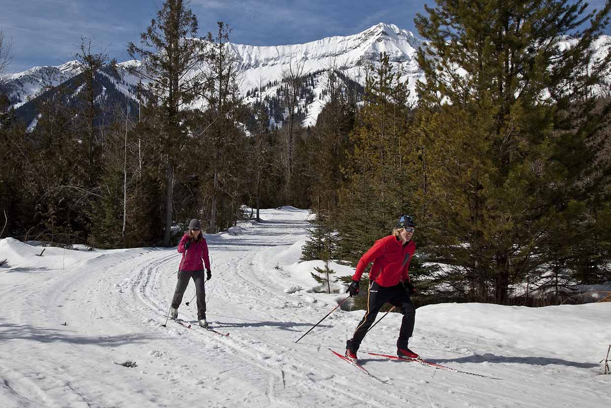 Elk Valley Nordic Centre offers both classic and skate ski trails