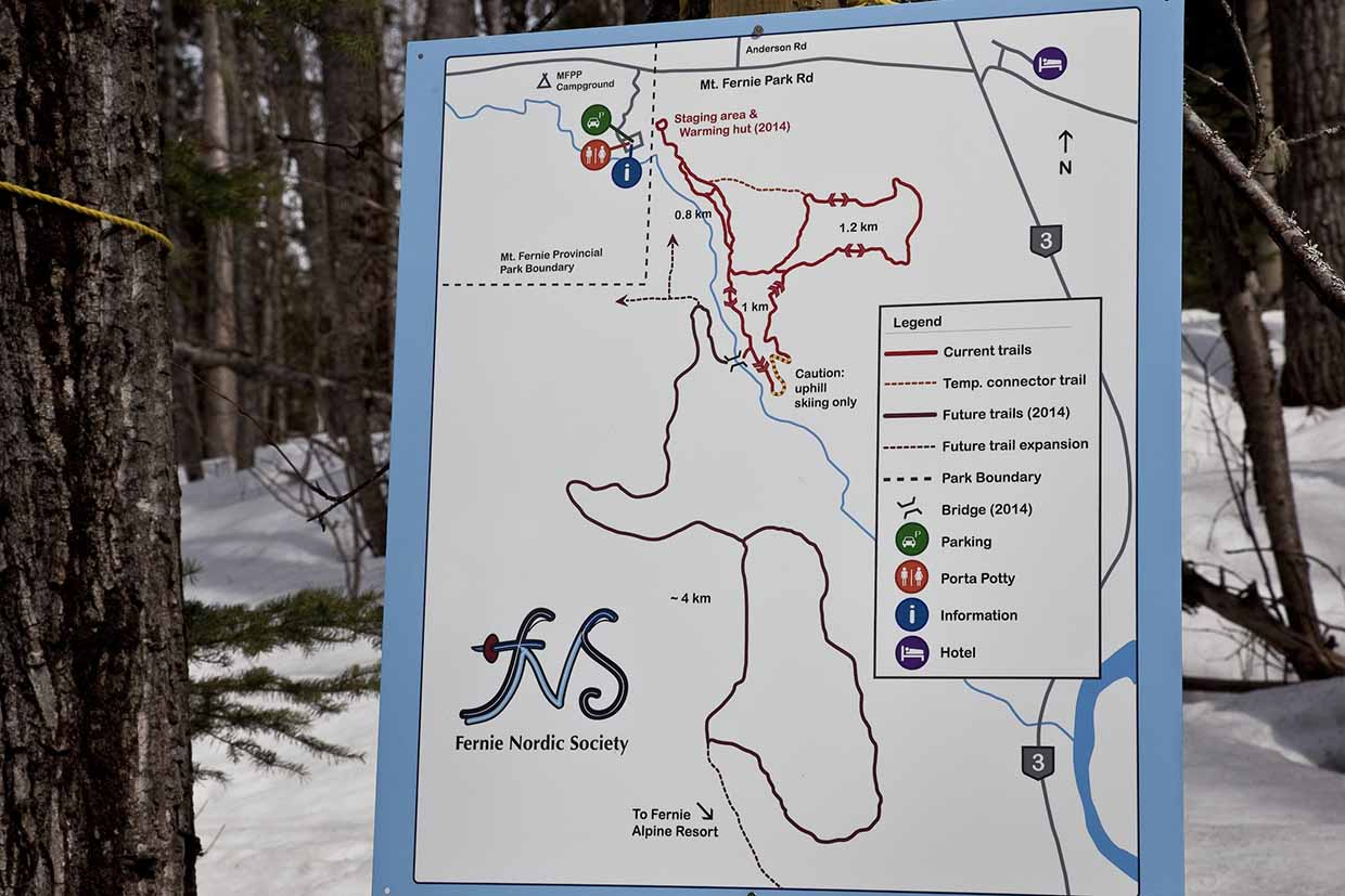 Elk Valley Nordic Centre trail map