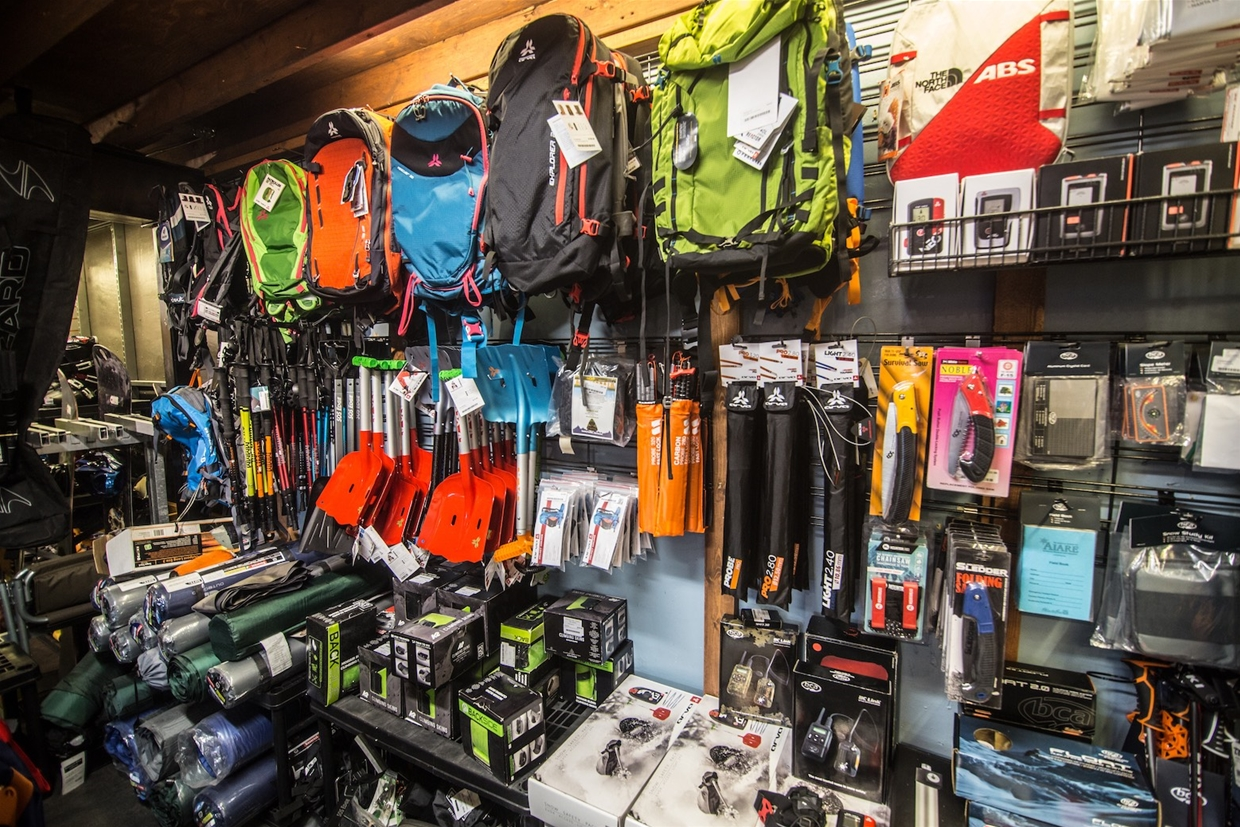 Great selection of backcountry and avalanche safety gear