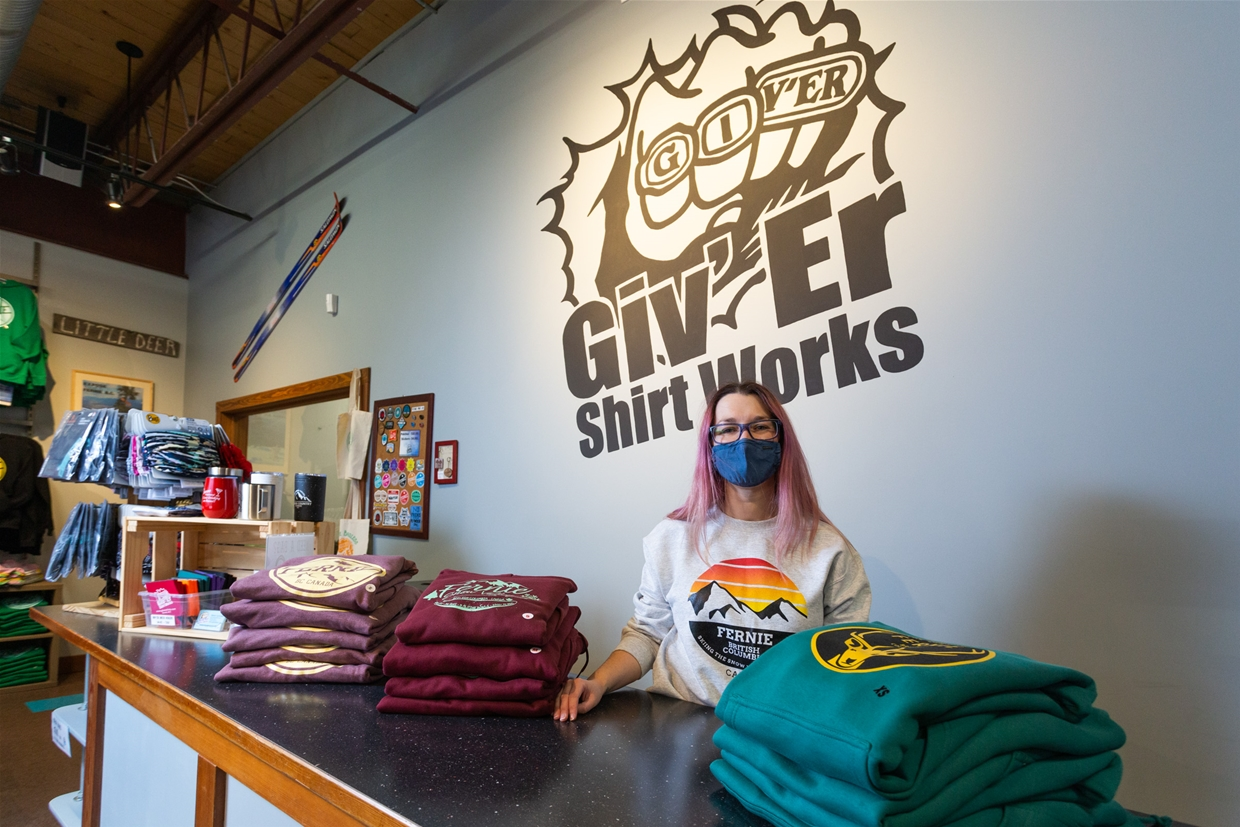 Fernie, BC branded gifts and unique custom apparel at Giv'er Shirt Works