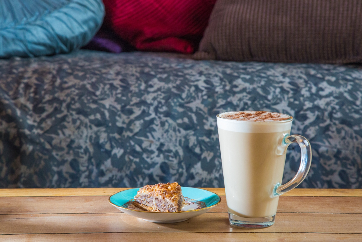 Warm up you day with the our signature Coco Chai Latte