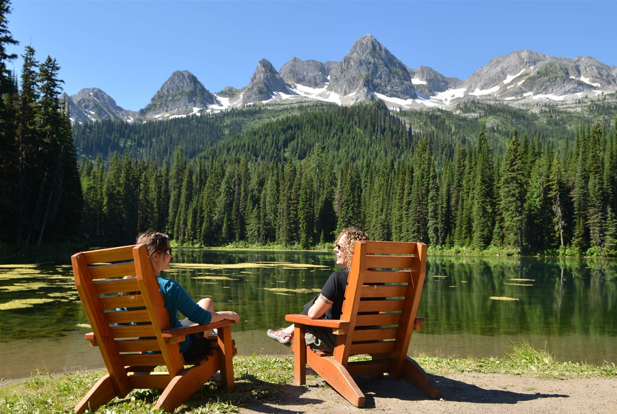 Relaxing at Island Lake Lodge