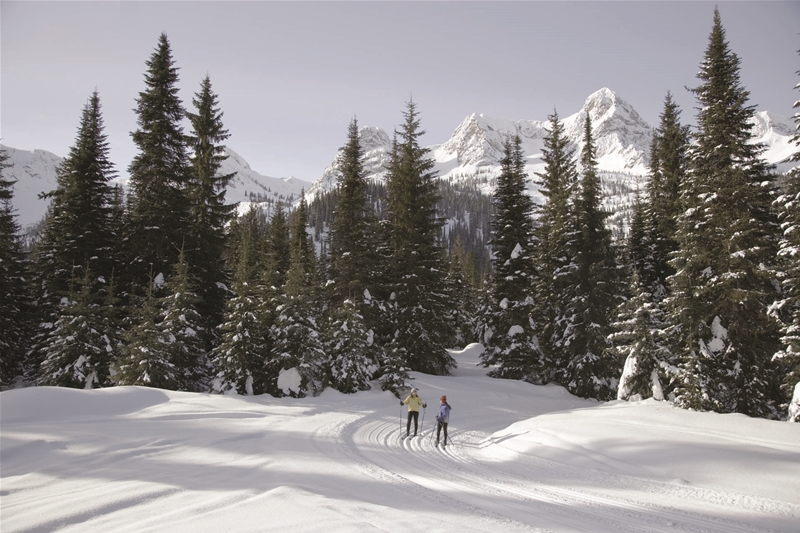 Nordic skiing at Island Lake Lodge