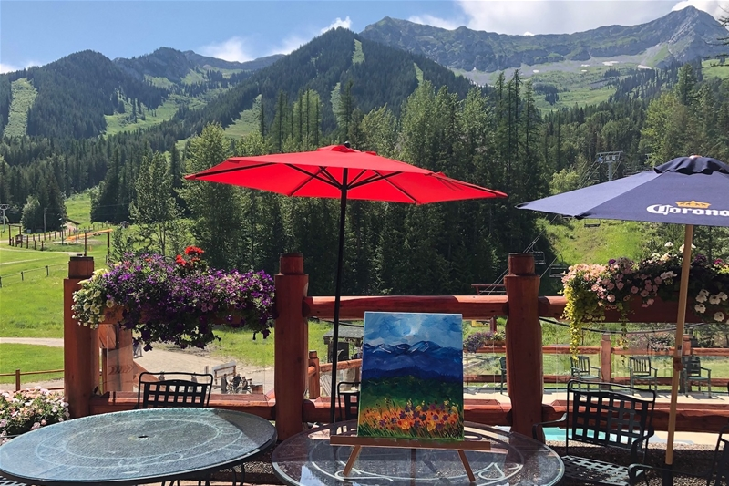 Paint & Sip on the patio