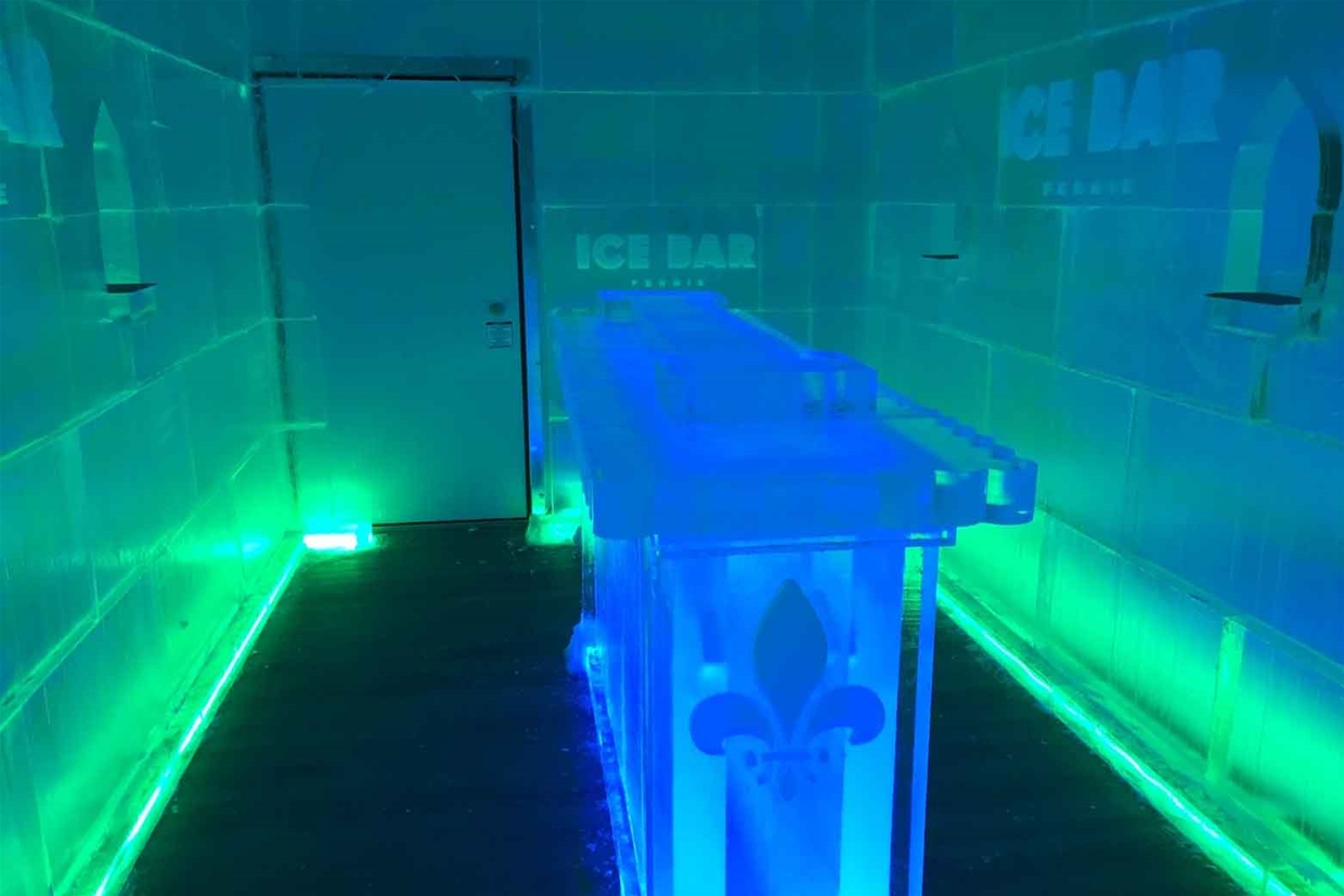 Ice Bar in Aqua