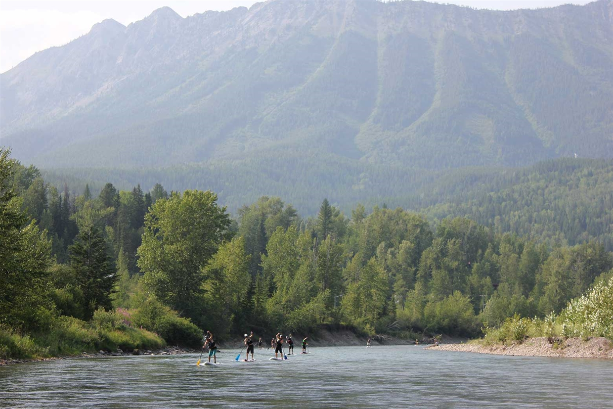 Stand Up Paddle Boarding on the Elk River