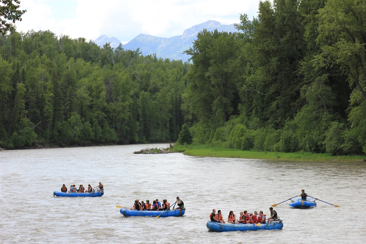 Corporate float on the Upper Elk River