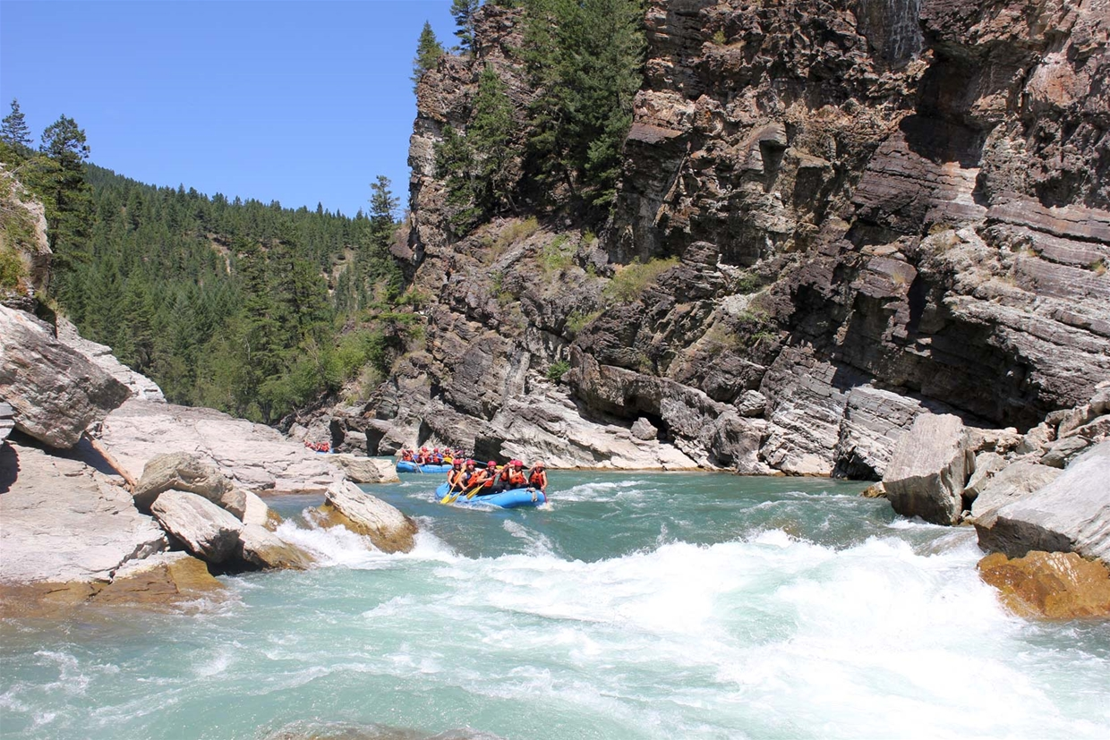 Guided River Rafting on the Elk River Canyon