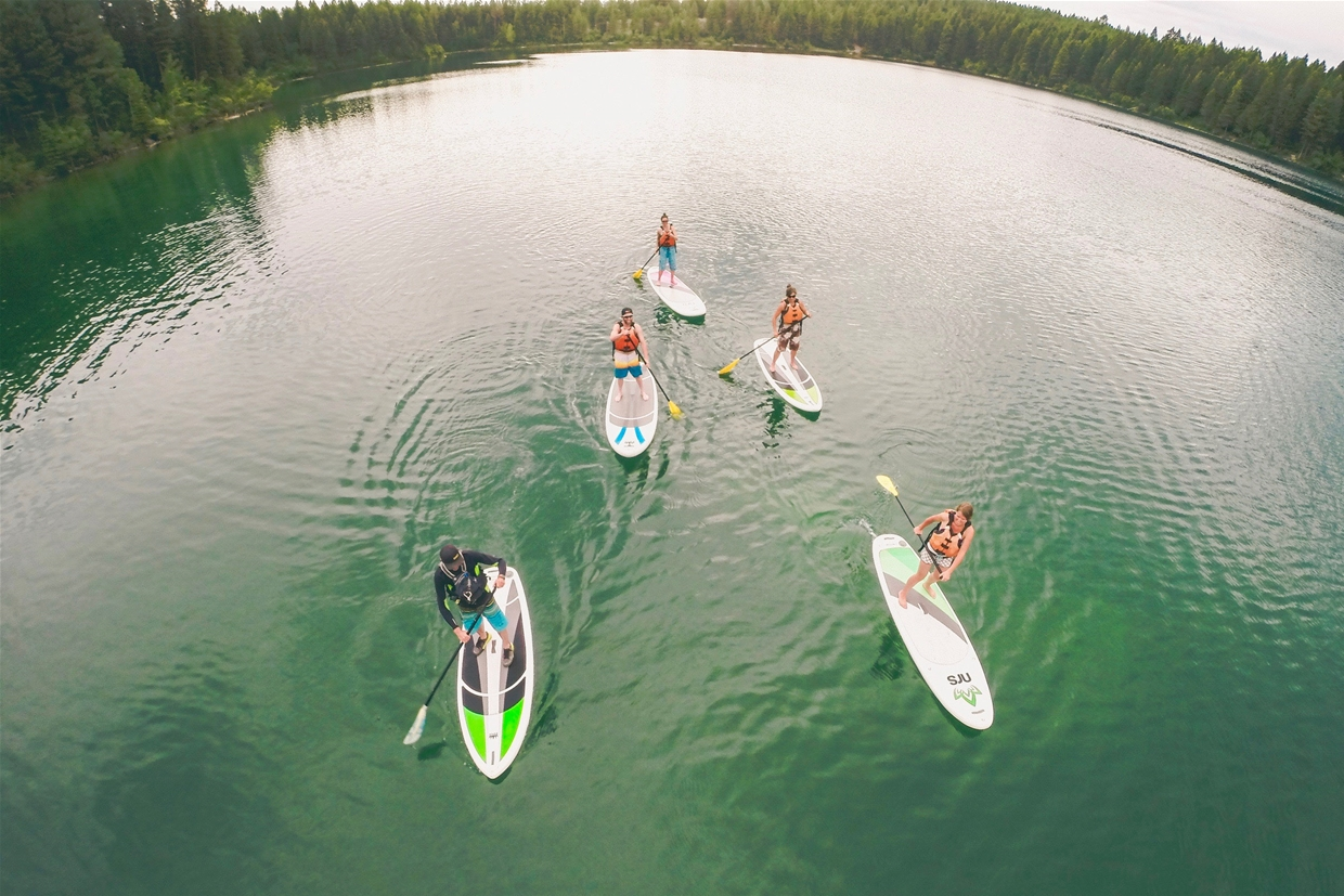 Stand-Up Paddle Boarding on Lakes and Rivers
