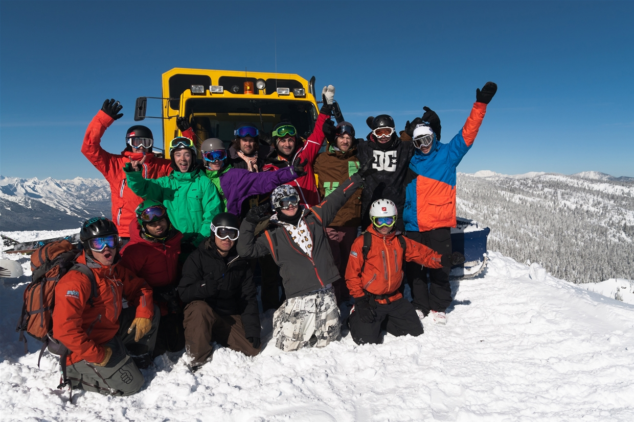 Group shot after day Cat- Skiing with Nonstop Adventure
