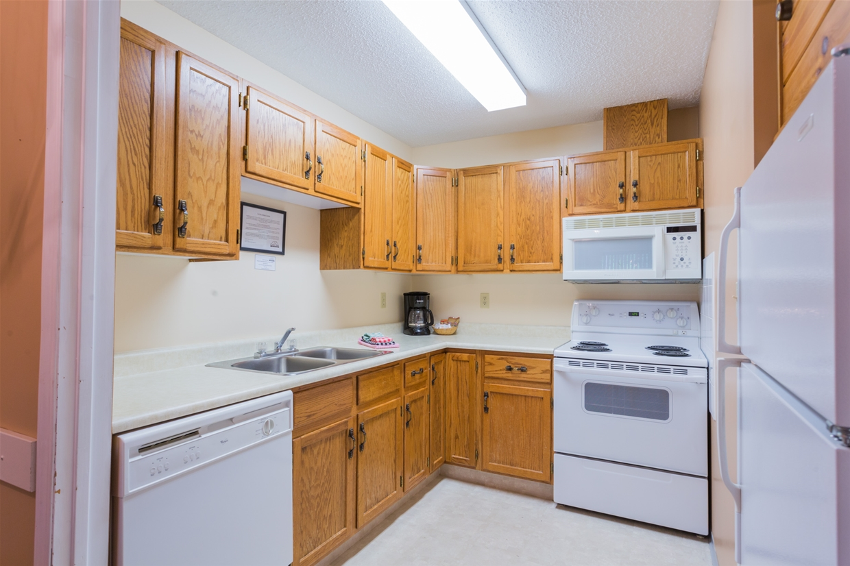 Condos come with fully-equip kitchens