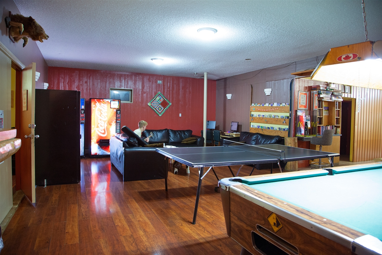 Fully equipped games room on-site