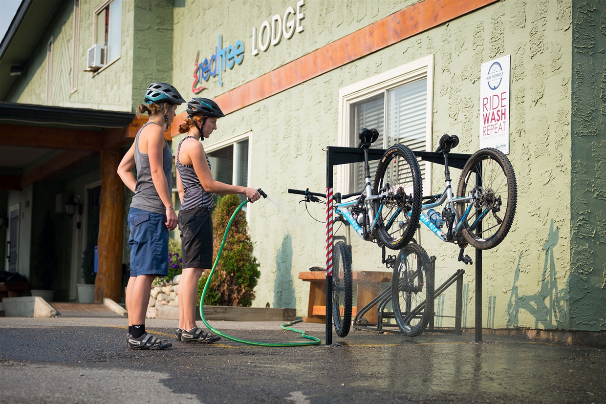 Complimentary Bike Wash Station