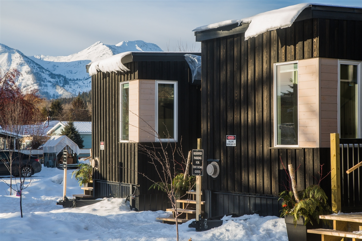 Tiny home cabins at Snow Valley Lodging
