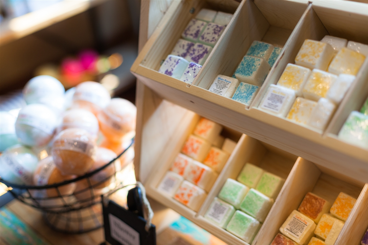 Spa 901 offers many retail items to take back home