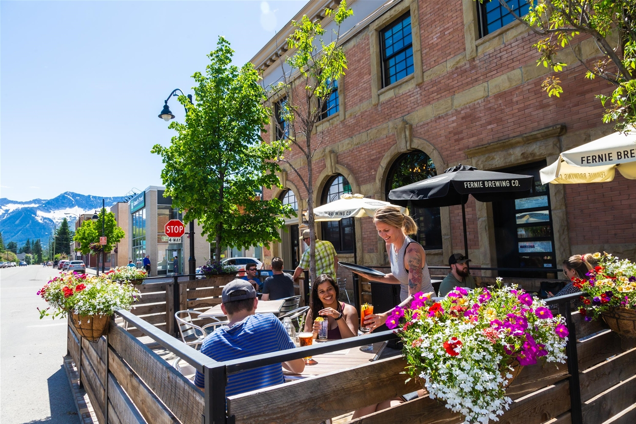 Enjoy lunch al-fresco on the patio of the Brickhouse