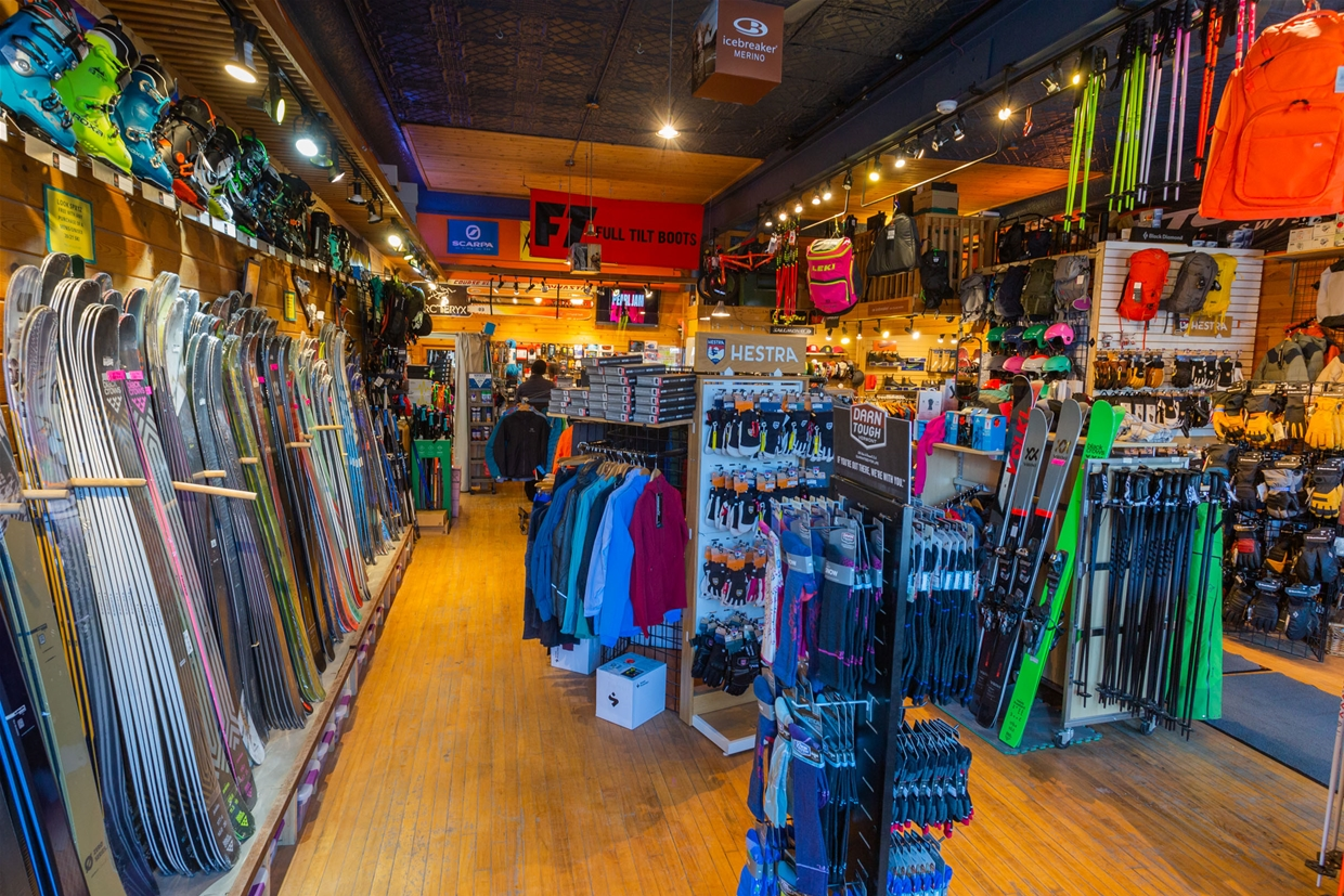 Find the latest skis gear & apparel at the Guides Hut