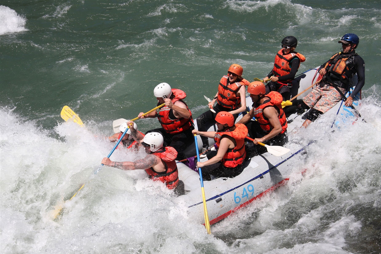 Exciting whitewater rafting on the  Elk River