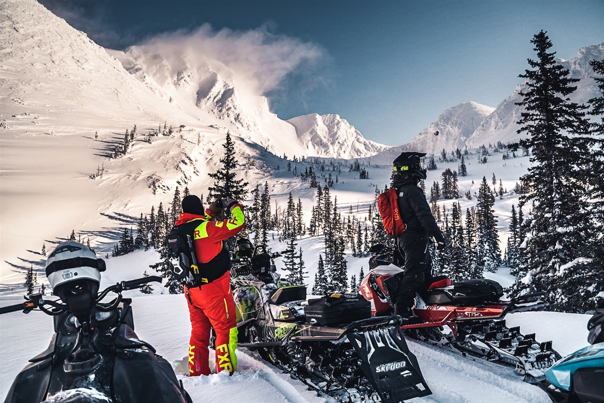Discover the Rockies by snowmobile