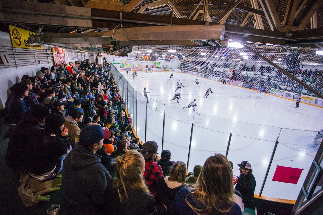 Catch a Fernie Ghostriders match at the Memorial Arena